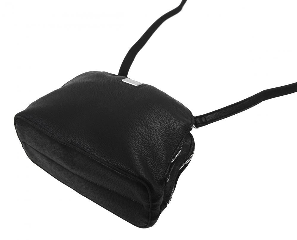 Černá měkká crossbody dámská kabelka se dvěma oddíly 5623-TS