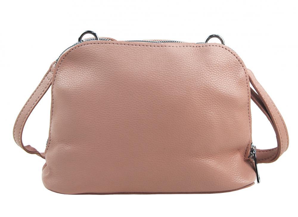 Růžová měkká crossbody dámská kabelka se dvěma oddíly 5623-TS