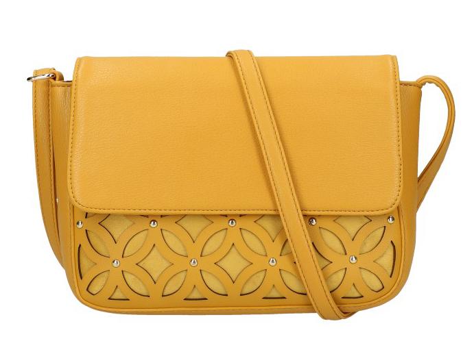 Žlutá hořčicová dámská crossbody kabelka AM0111