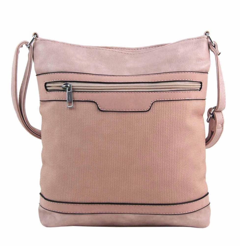 Růžová crossbody dámská kabelka FB1913