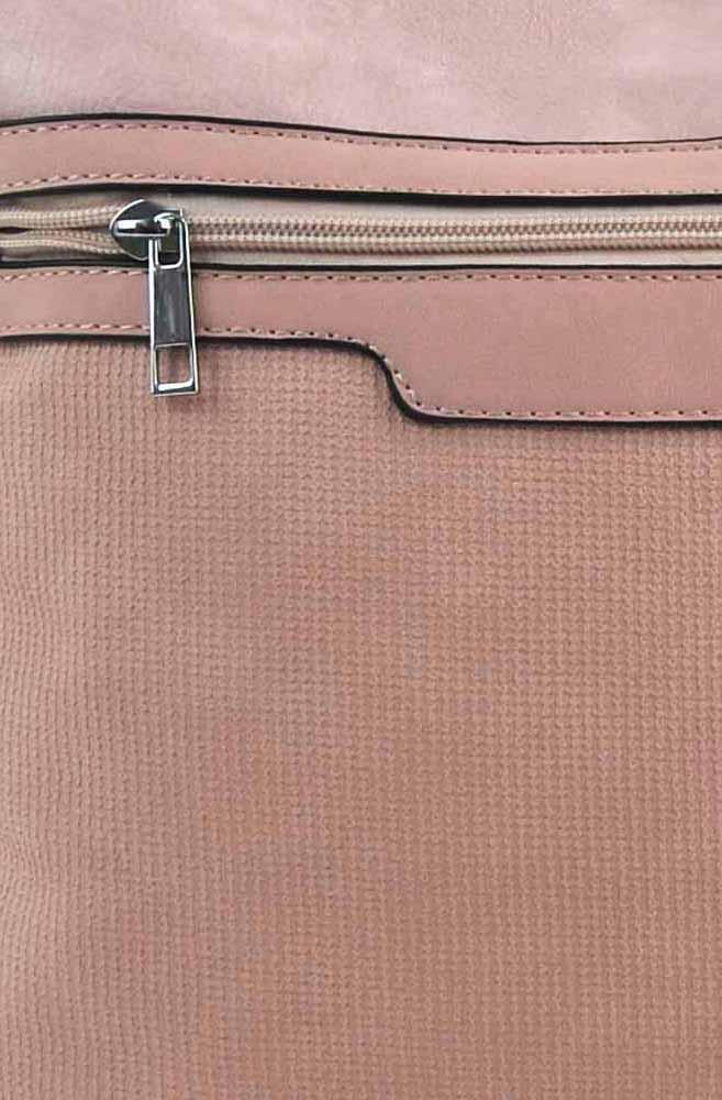 Ružová crossbody dámska kabelka FB1913