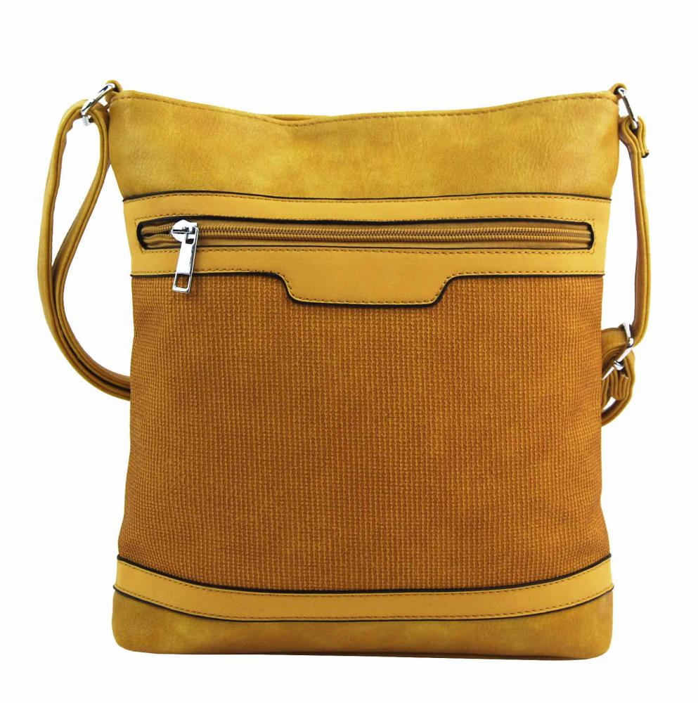 Žlutá crossbody dámská kabelka FB1913