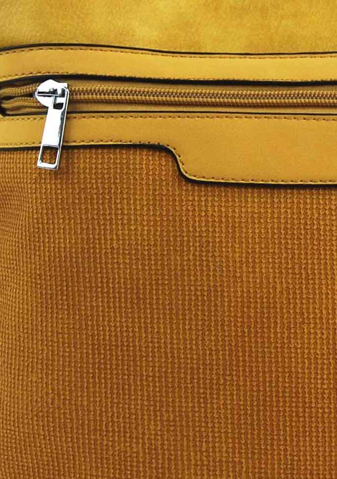 Žltá crossbody dámska kabelka FB1913