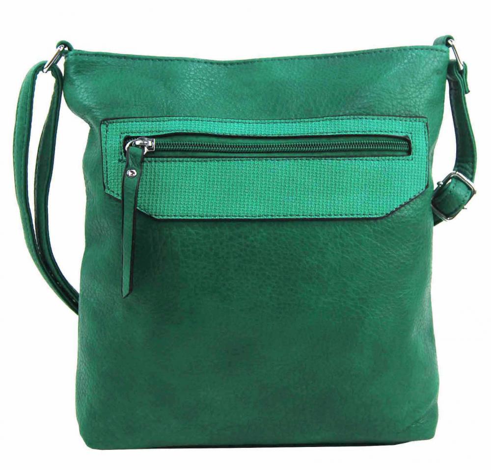 Zelená crossbody dámská kabelka FB1922