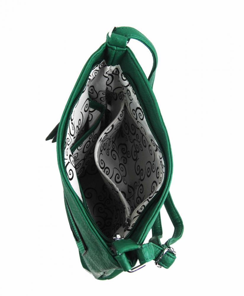 Zelená crossbody dámska kabelka FB1922
