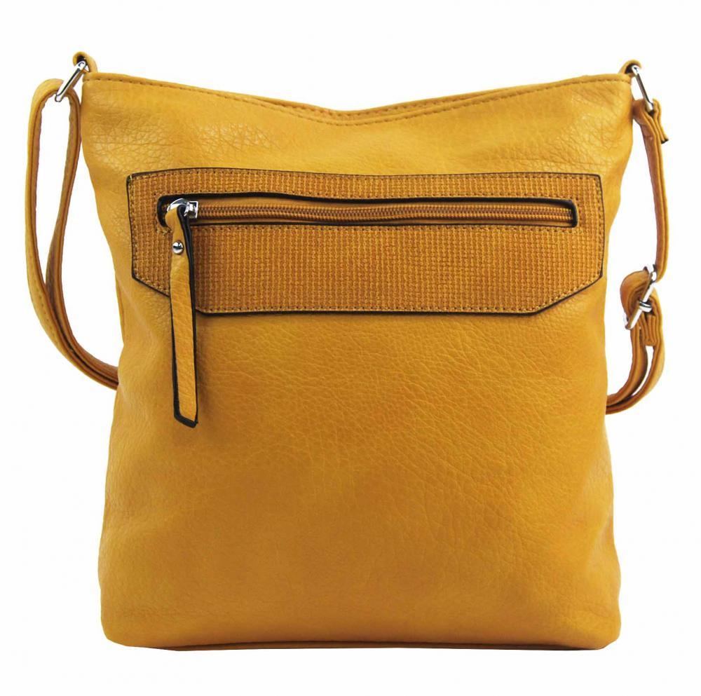 Žlutá crossbody dámská kabelka FB1922