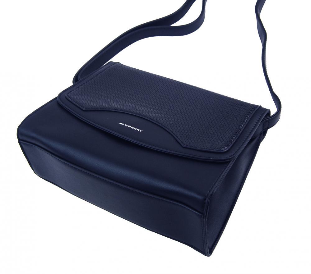 Tmavo modrá crossbody dámska kabelka v hadím dizajne NEW BERRY