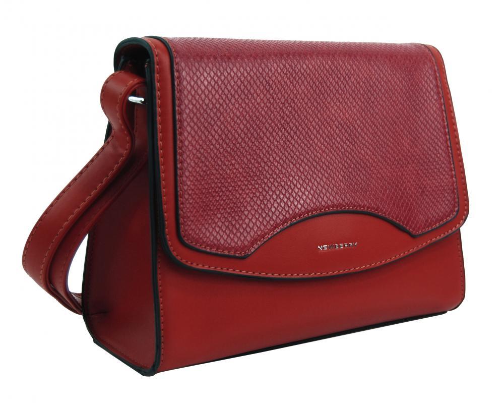 Tmavšia červená crossbody dámska kabelka v hadím dizajne NEW BERRY