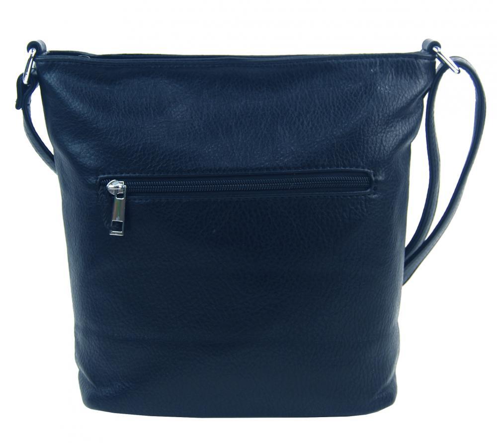 Tmavo modrá crossbody dámska kabelka v kroko dizajne