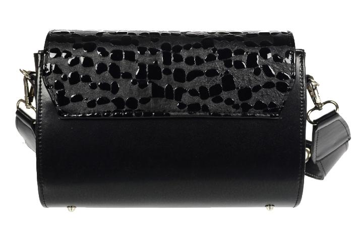 Luxusní dámská crossbody kabelka černá KM013 GROSSO