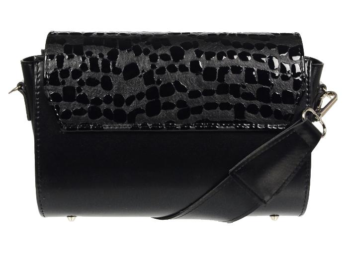 Luxusní dámská crossbody kabelka černá KM014 GROSSO