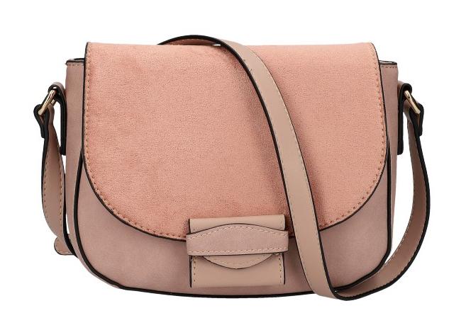 Crossbody dámská kabelka KR842 růžová