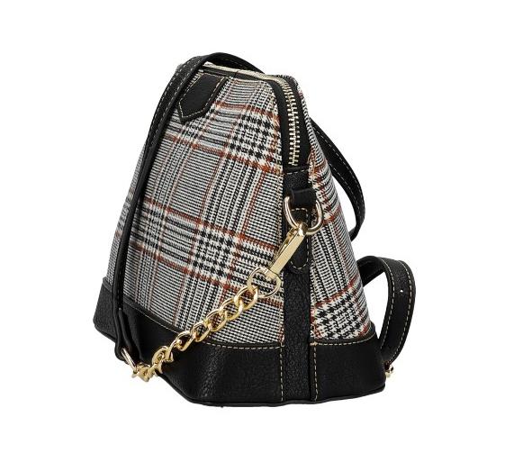 Malá dámská crossbody kabelka KR937 černá