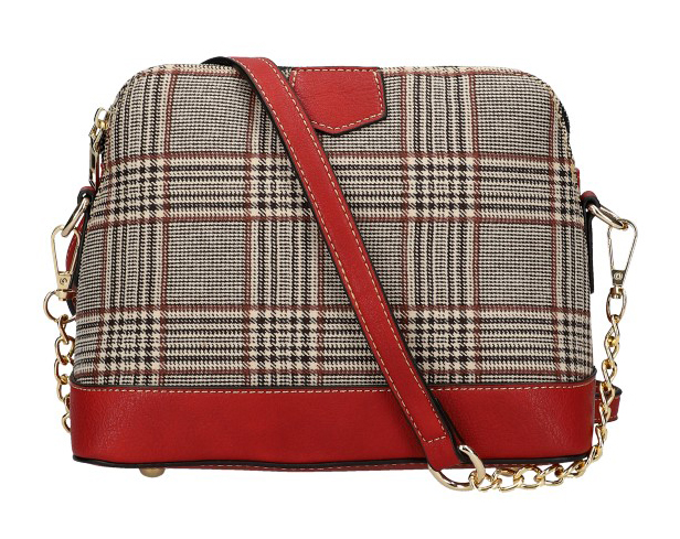 Malá dámska crossbody kabelka KR937 červená