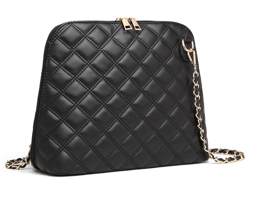 Čierna elegantná crossbody dámska kabelka Miss Lulu