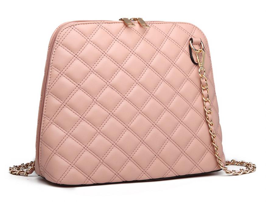 Růžová elegantní crossbody dámská kabelka Miss Lulu