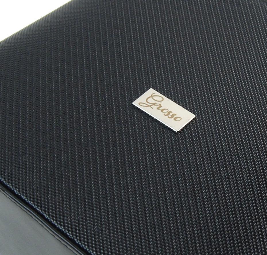 Černá luxusní pevná dámská kabelka na rameno M199 GROSSO