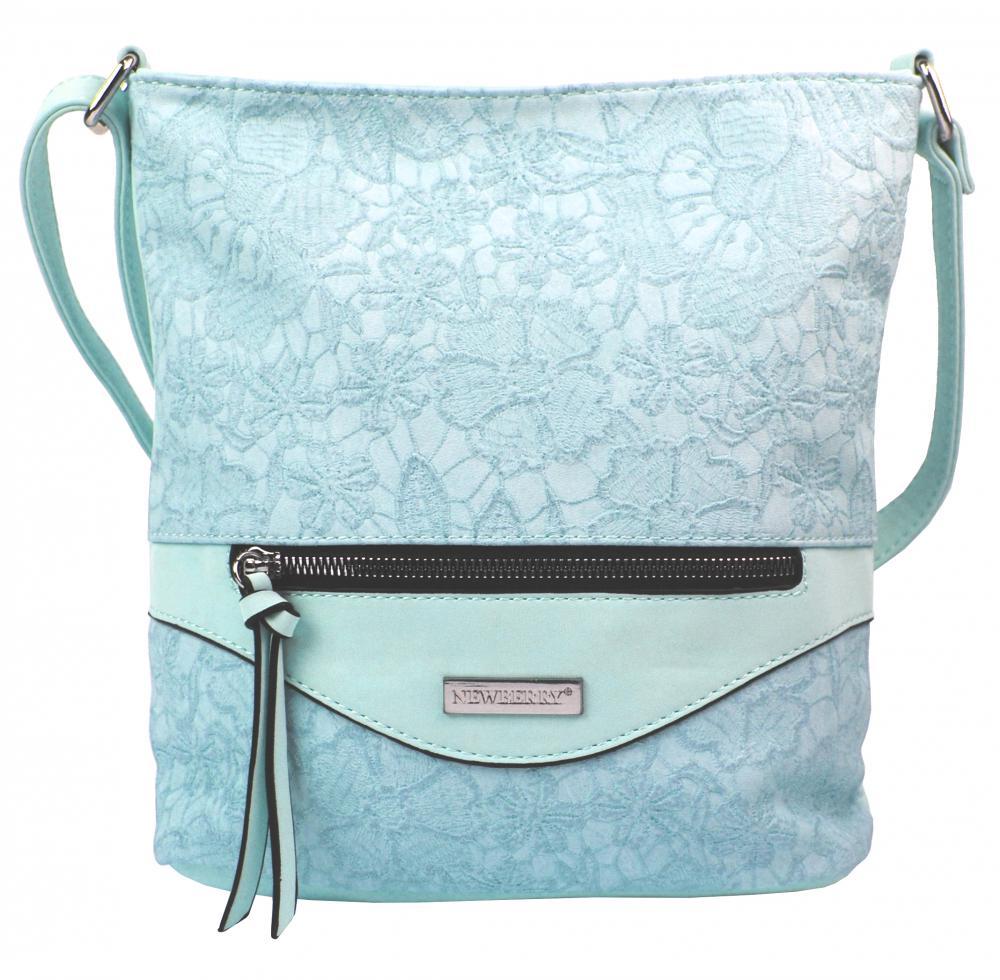 Crossbody kabelka v květovaném designu HB043 světle modrá
