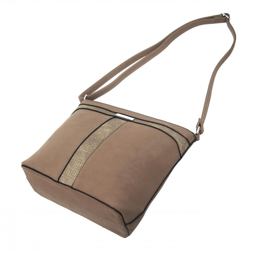 Crossbody dámska kabelka NH8069 prírodná hnedá