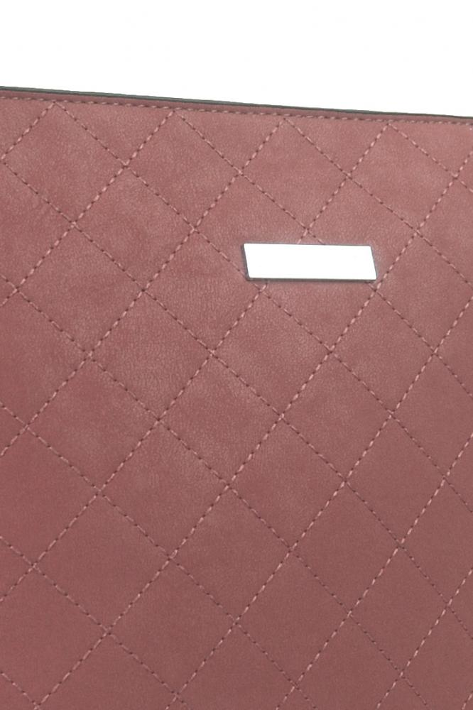 Dámska prešívaná crossbody kabelka NH8070 ružová