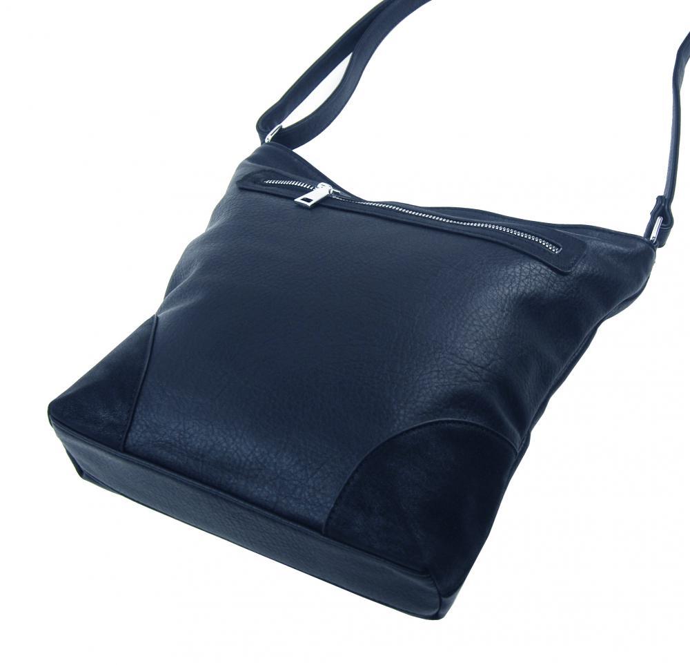 Středně velká tmavě modrá crossbody dámská kabelka NH8123