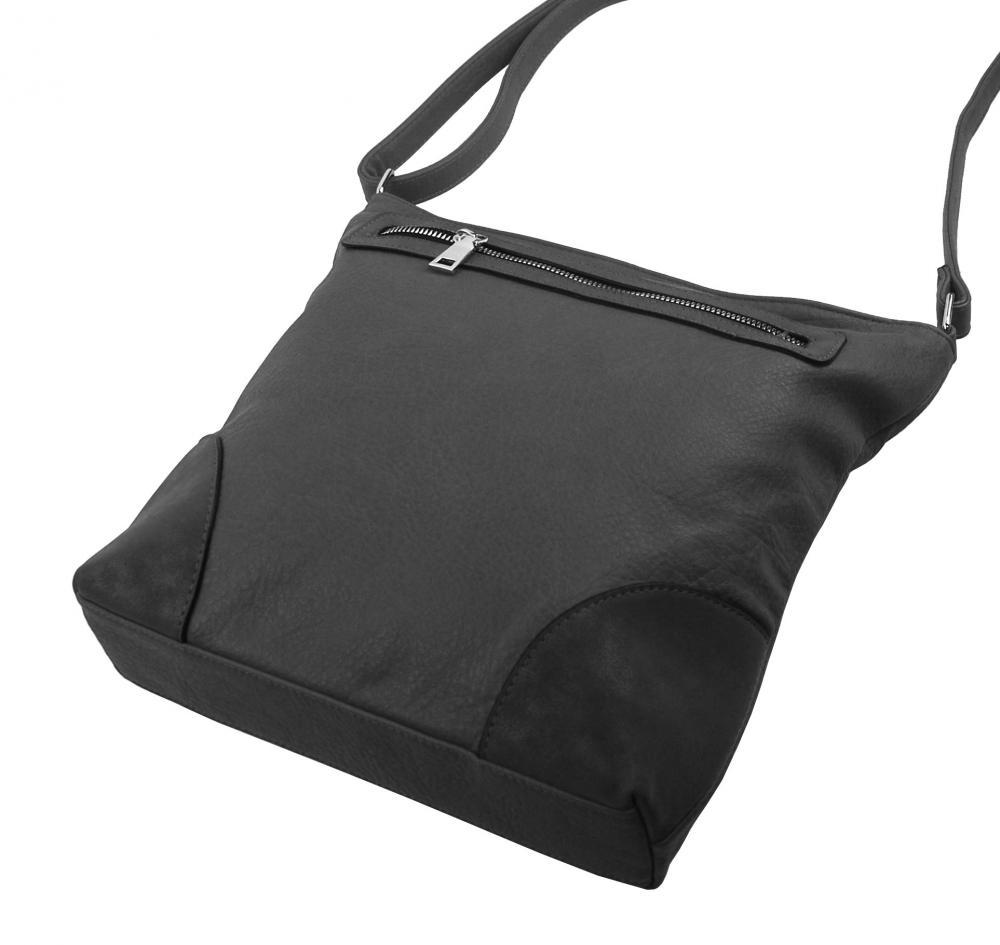 Středně velká tmavě šedá crossbody dámská kabelka NH8123