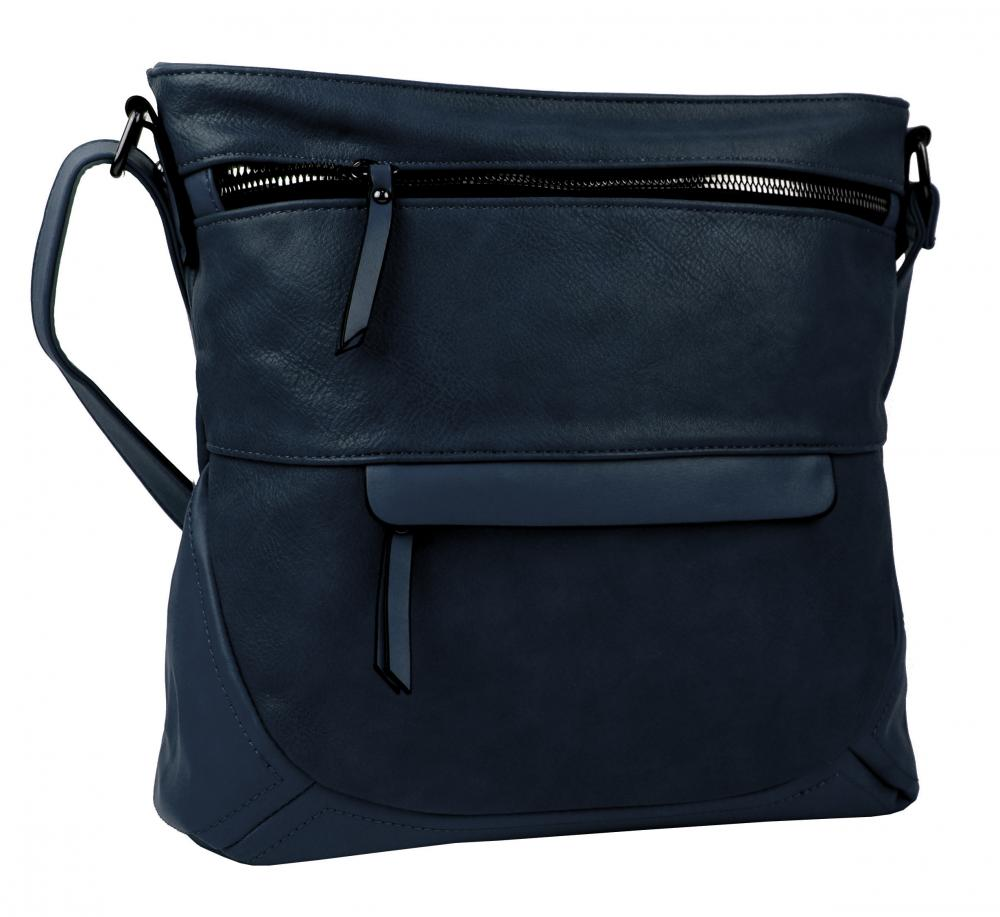Tmavě modrá crossbody dámská kabelka střední velikosti T5069