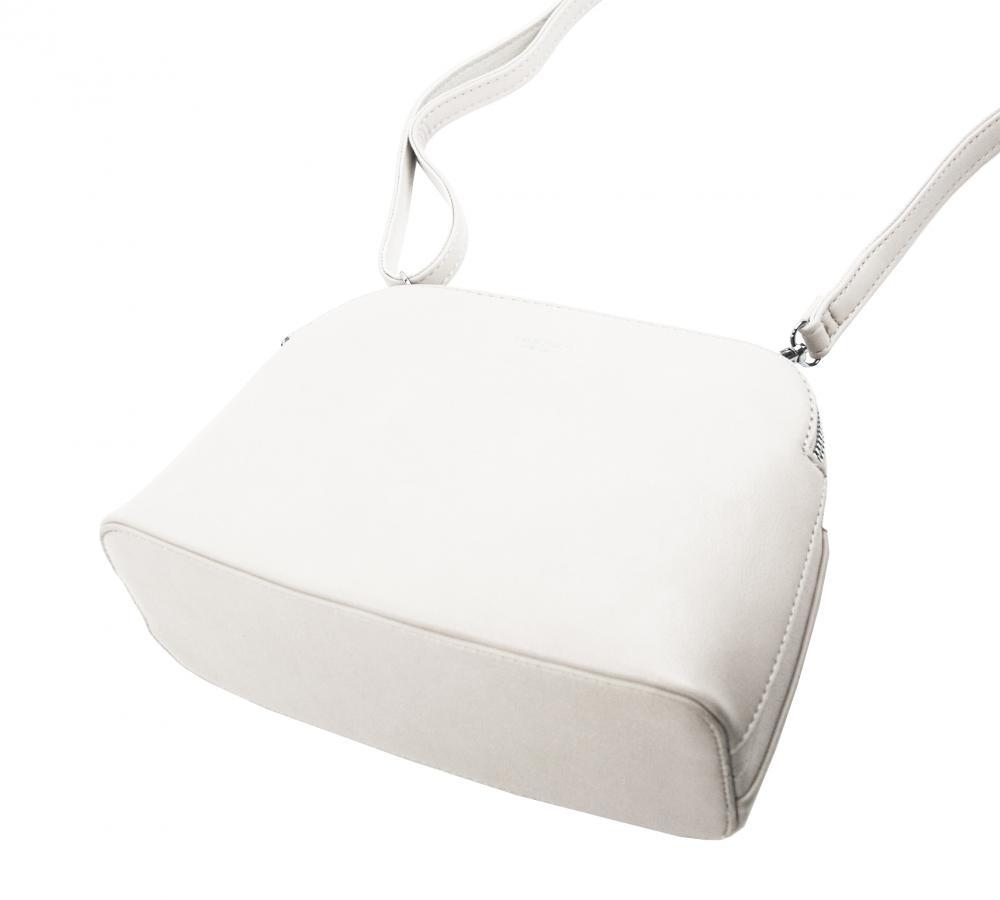Smetanovo biela menšia crossbody dámska kabelka s dvoma sekciami 4845-TS