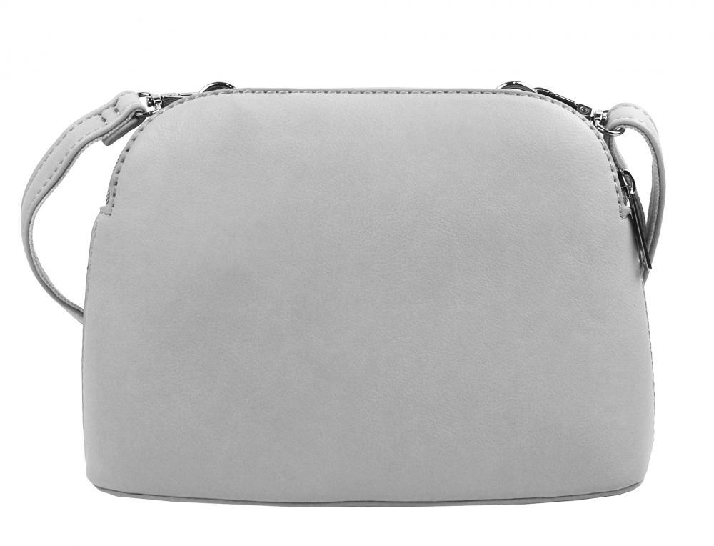 Svetlo sivá menšia crossbody dámska kabelka s dvoma sekciami 4845-TS