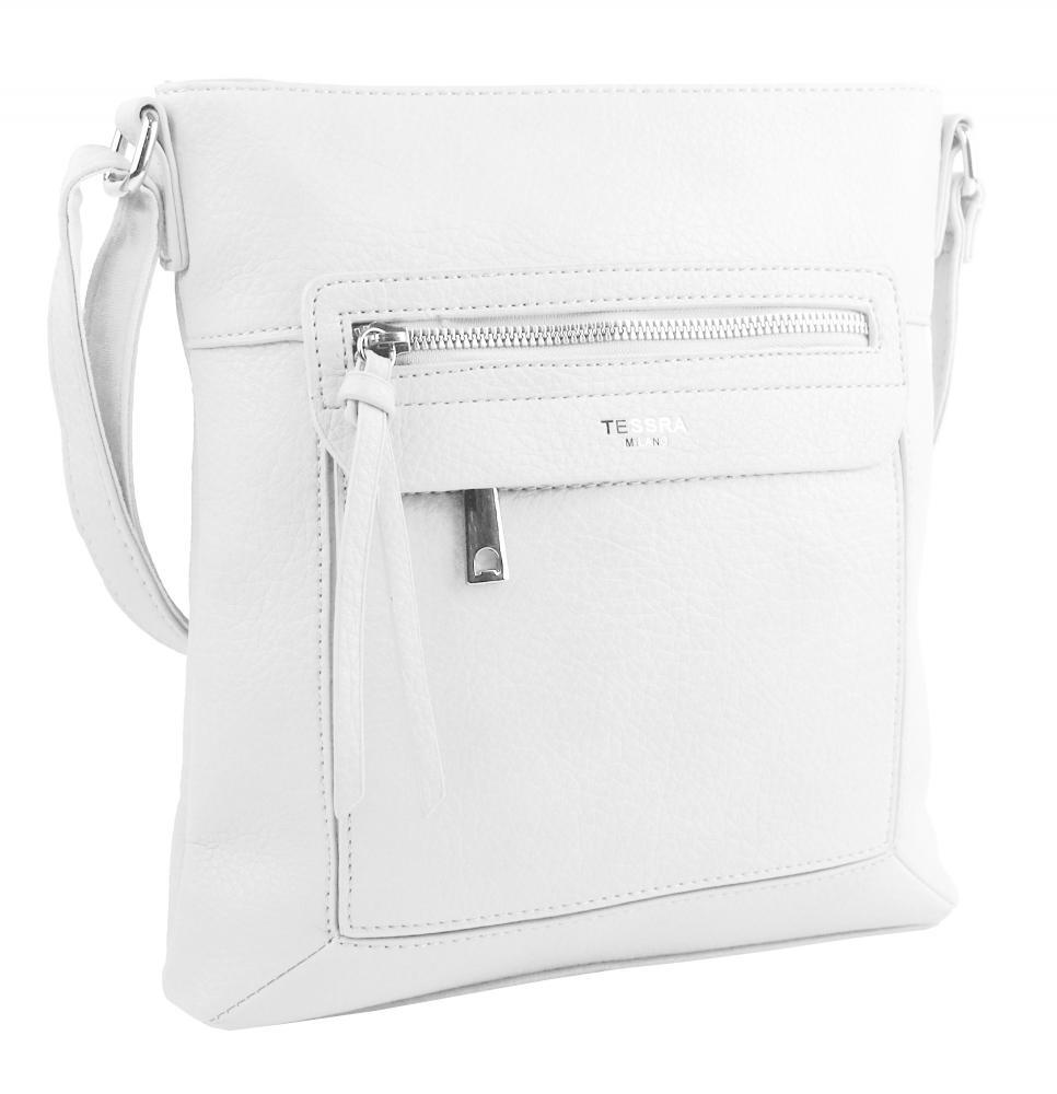 Crossbody dámska kabelka biela 5593-TS
