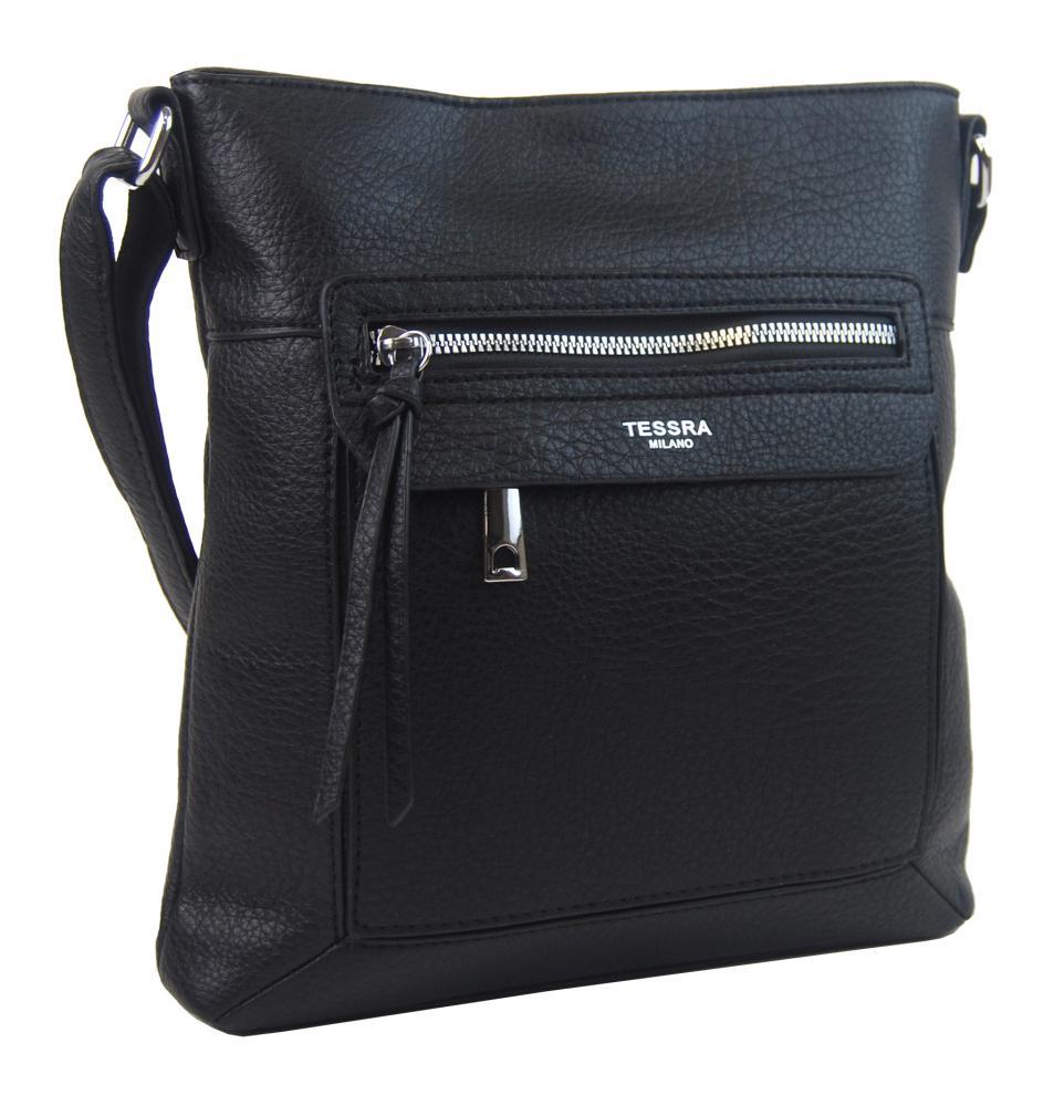 Crossbody dámská kabelka černá 5569-TS