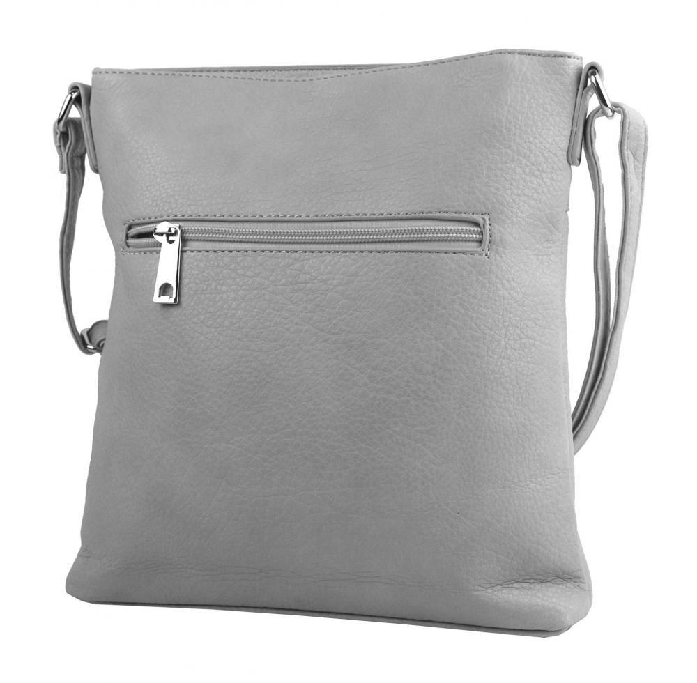 Crossbody dámská kabelka středně šedá 5593-TS