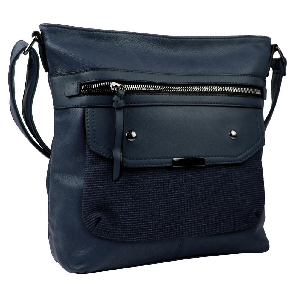 Crossbody tmavě modrá dámská kabelka střední velikosti XH5010