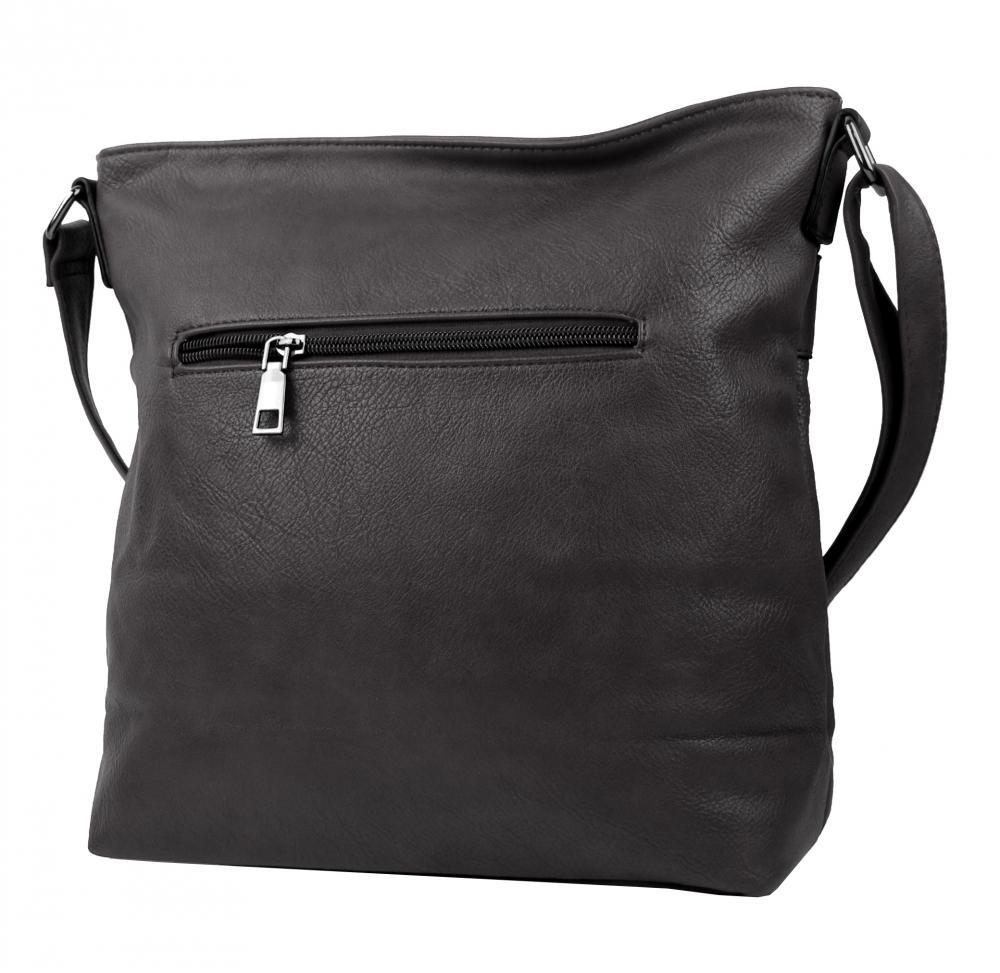 Crossbody tmavo sivá dámska kabelka strednej veľkosti XH5010