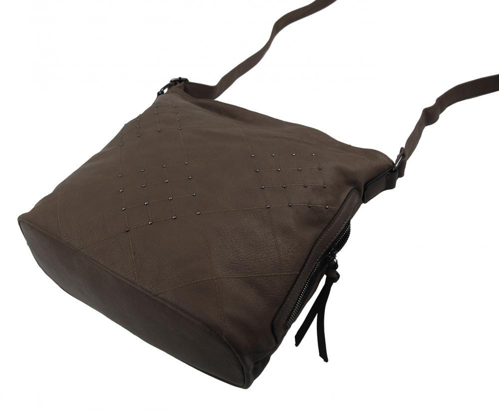 Bahenní hnědá crossbody dámská kabelka XH5012