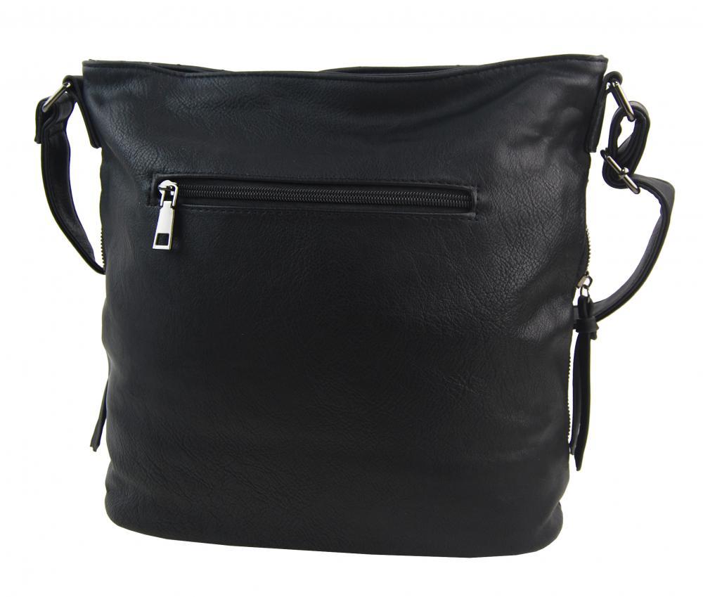 Čierna crossbody dámska kabelka XH5012