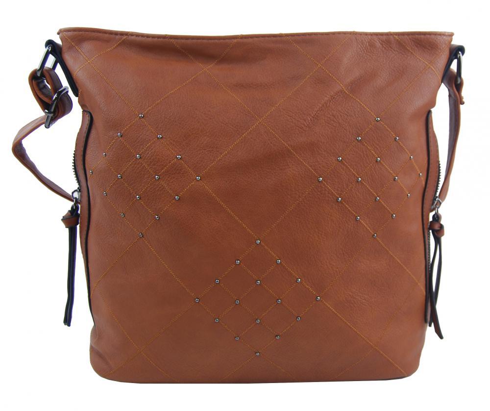 Hnědá crossbody dámská kabelka XH5012