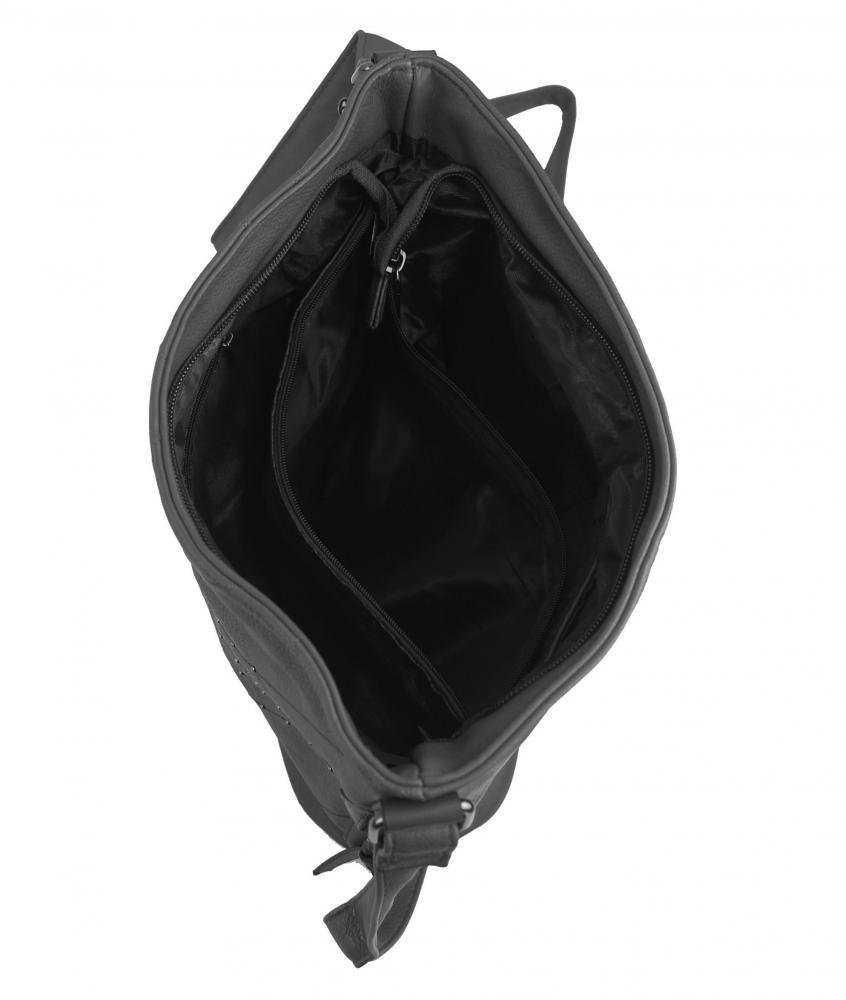 Tmavo šedá crossbody dámska kabelka XH5012