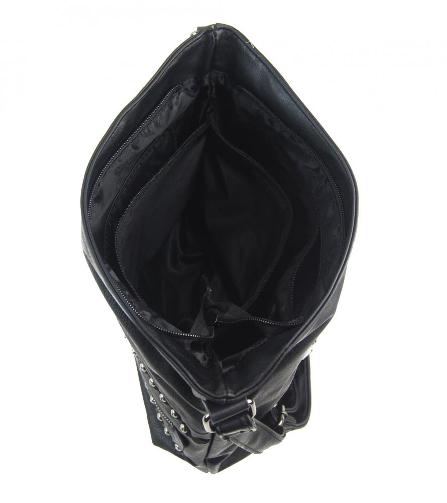 Čierna stredne veľká crossbody dámska kabelka XH5046