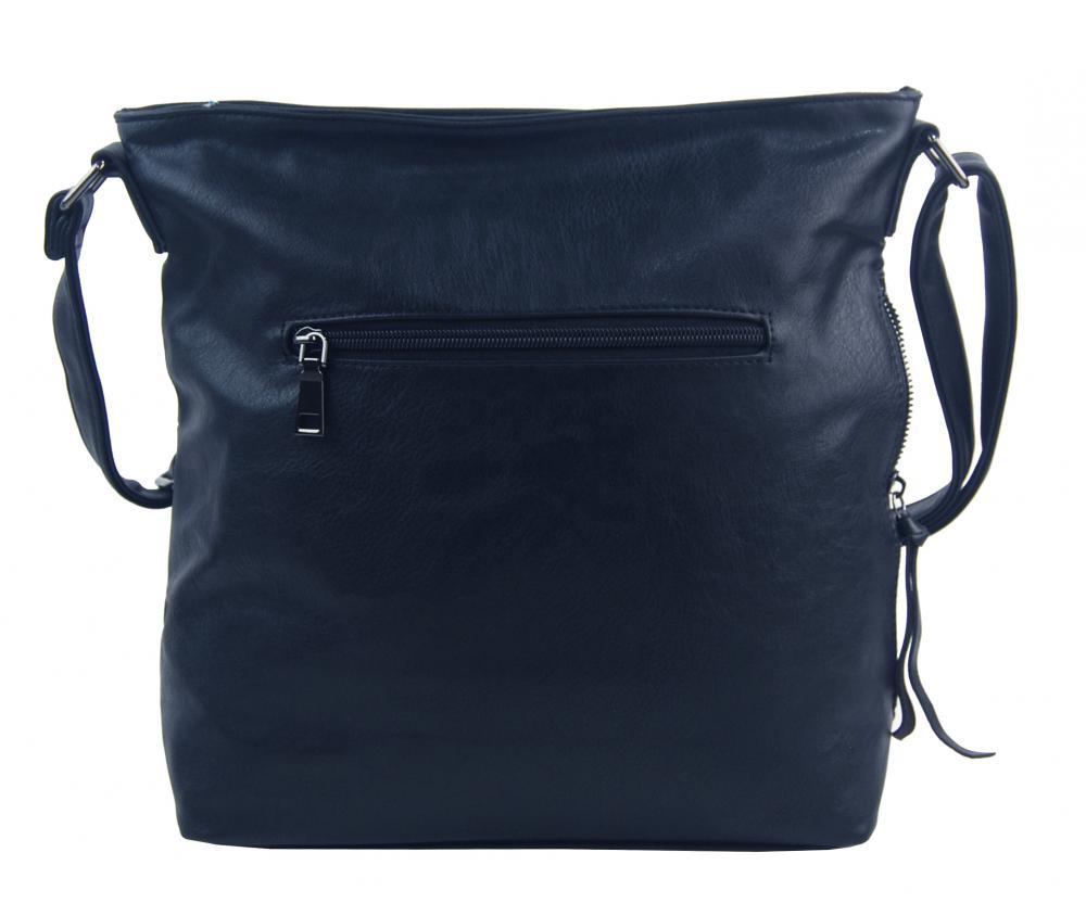 Tmavě modrá středně velká crossbody dámská kabelka XH5046
