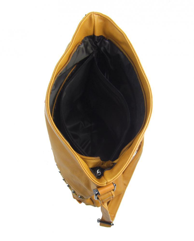 Okrově žlutá středně velká crossbody dámská kabelka XH5046