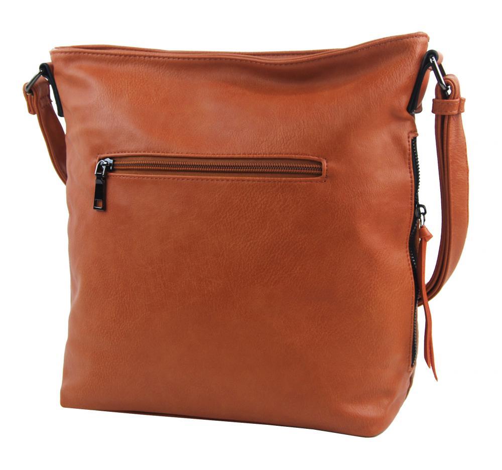 Oranžová středně velká crossbody dámská kabelka XH5047