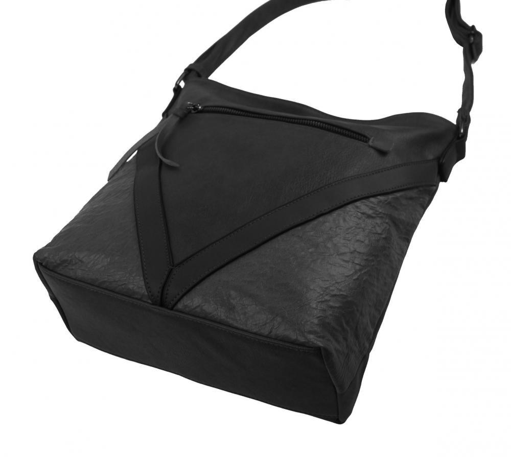 Tmavo šedá stredne veľká crossbody dámska kabelka XH5047
