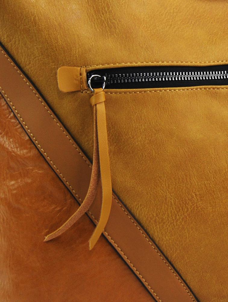 Okrově žlutá středně velká crossbody dámská kabelka XH5047