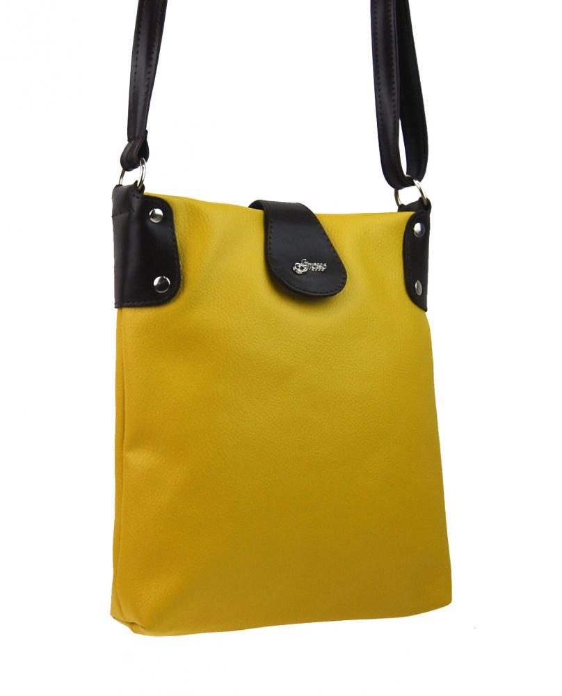 Žluto-hnědá dámská crossbody kabelka M66 GROSSO