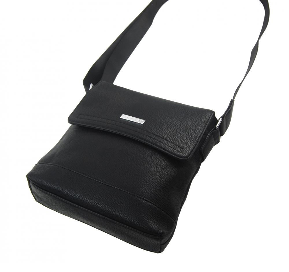 Pánska crossbody taška s magnetickou chlopňou čierna NH8066