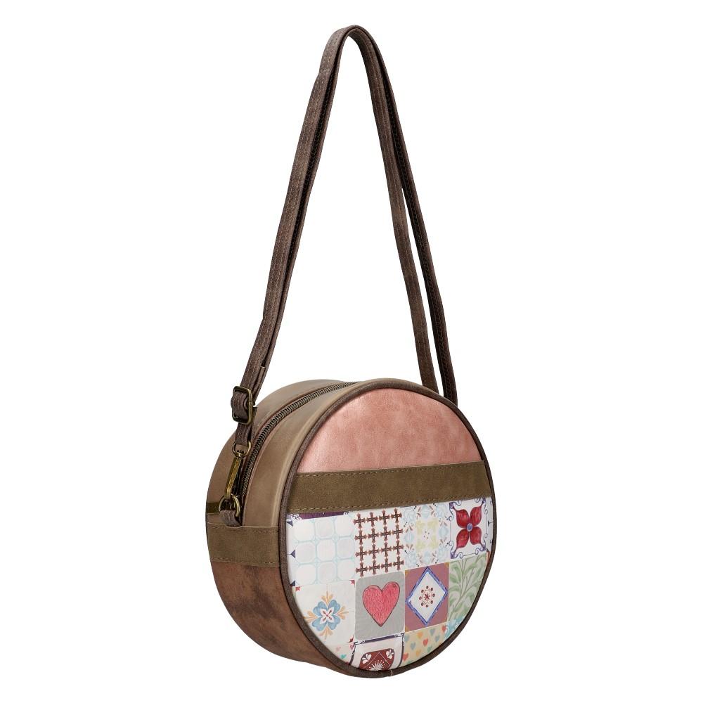 Sweet & Candy Kruhová crossbody dámská kabelka potisk v2