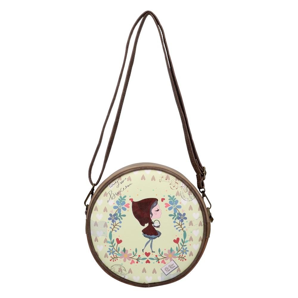 Sweet & Candy Kruhová crossbody dámska kabelka potlač #3