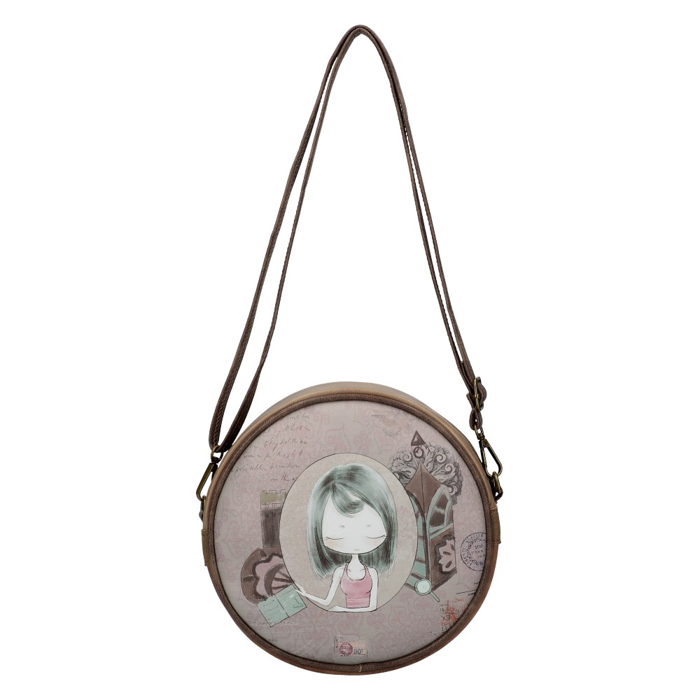 Sweet & Candy Kruhová crossbody dámská kabelka potisk #4