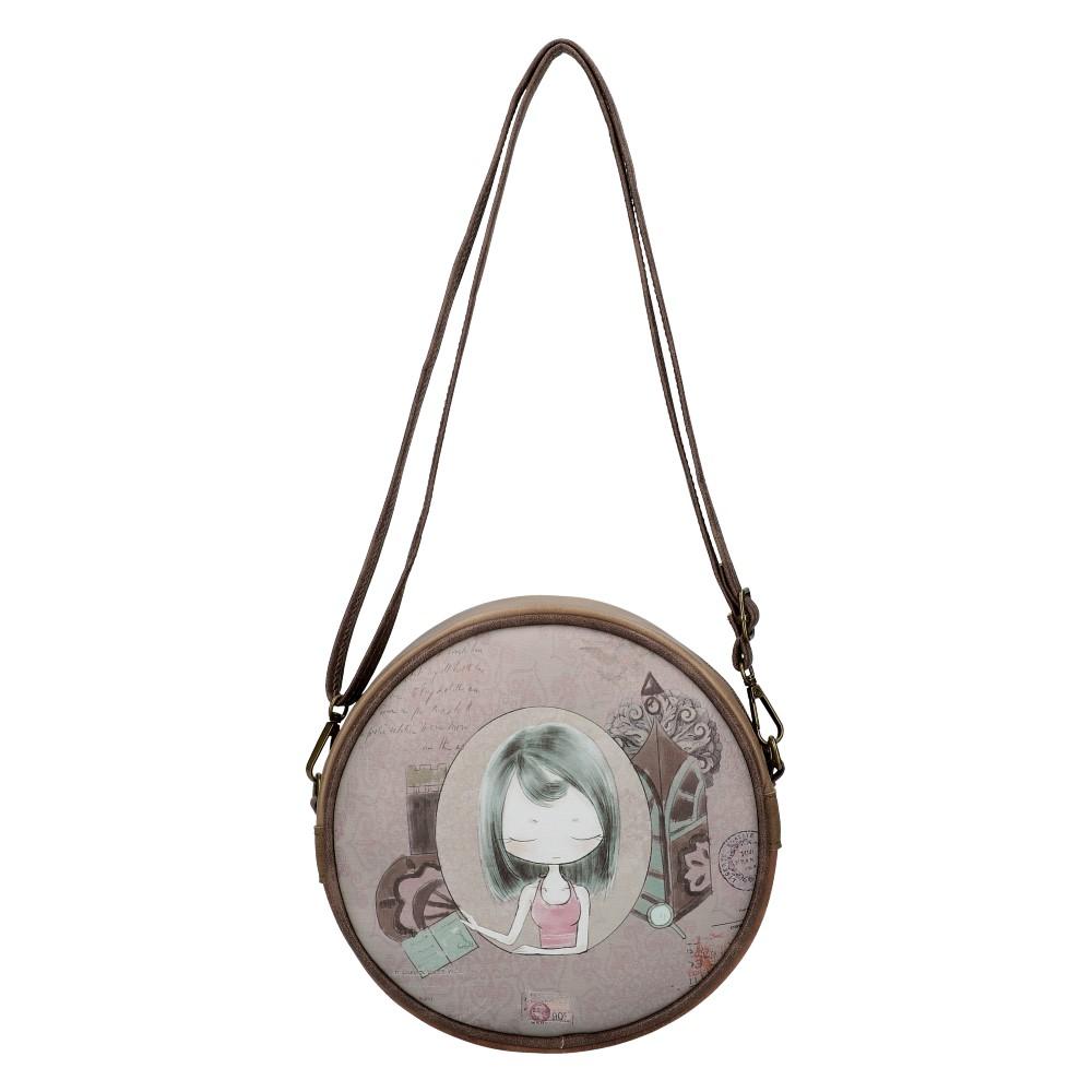 Sweet & Candy Kruhová crossbody dámska kabelka potlač #4
